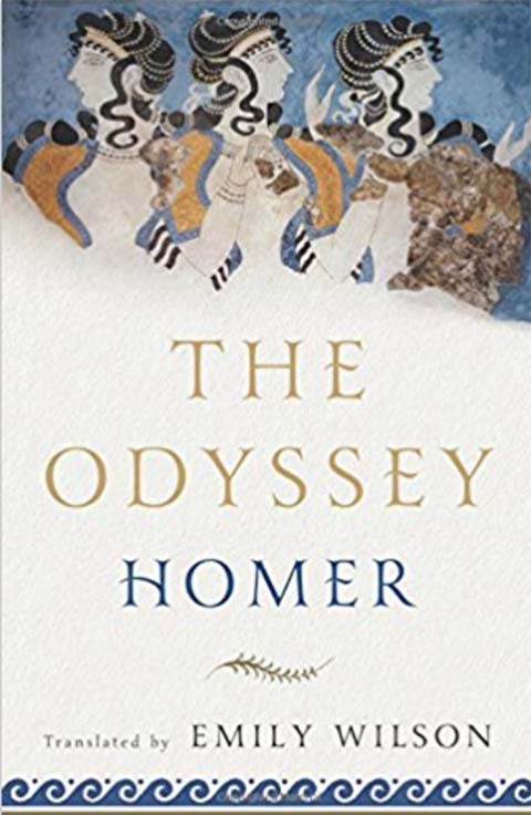 The cover of 'The Odyssey' by Homer