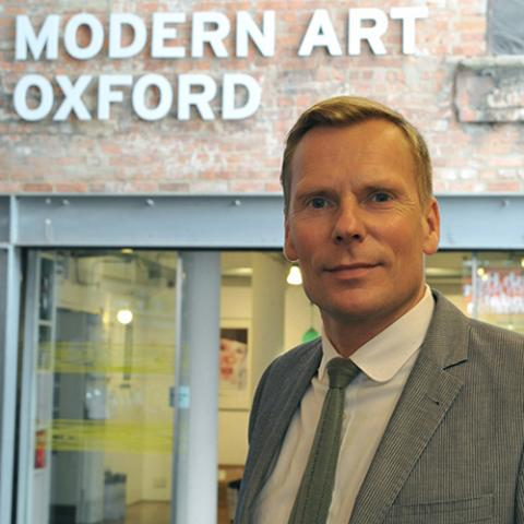 Paul Hobson stood outside Modern Art Oxford