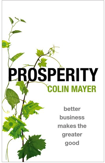 The cover of 'Prosperity' by Colin Mayer