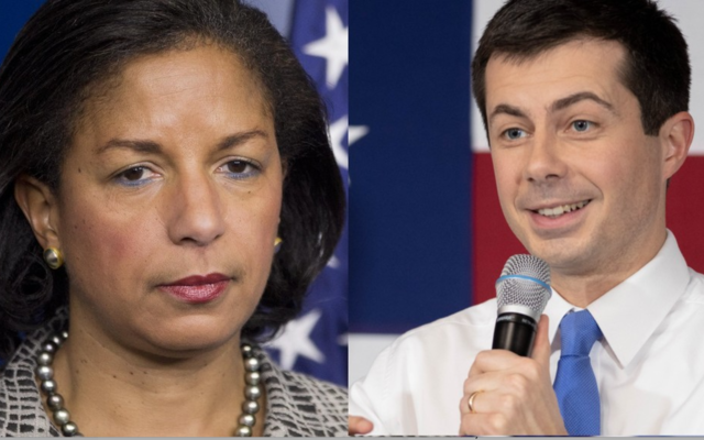 Susan Rice (left) and Pete Buttigieg (right)