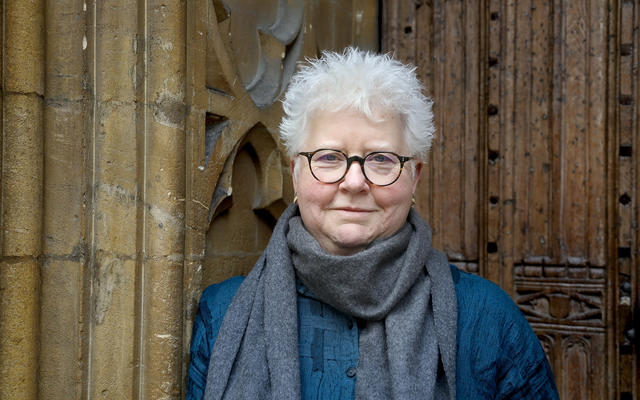 Val McDermid best-selling crime fiction novelist pictured at St Hilda's