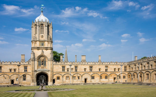 Tom Tower and quad in Christ Church