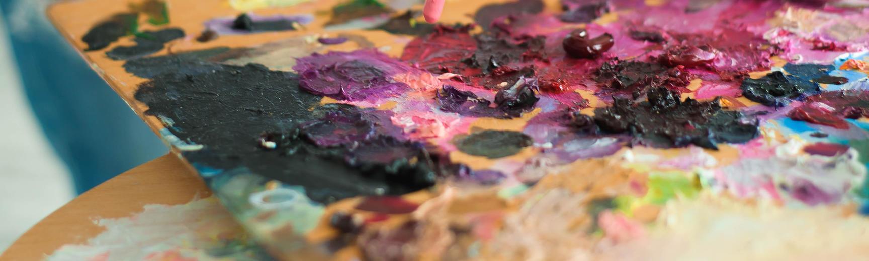 Art paint palette