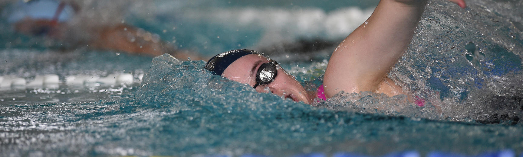 A swimming performing the front crawl - Oxford University images