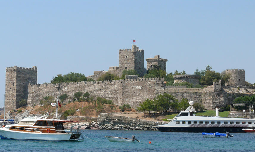 Southeast view of Bodrum Castle in southwest Turkey