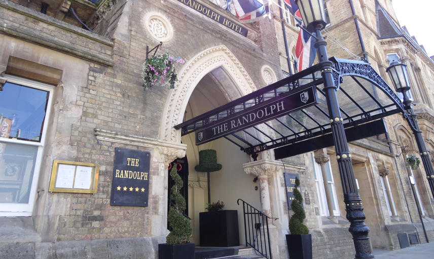 The entrance to the Randolph Hotel, Oxford on Beaumont Street