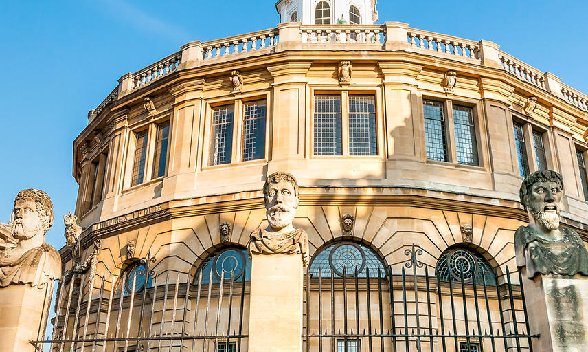 A view of Oxford's Sheldonian Theatre from Broad Street