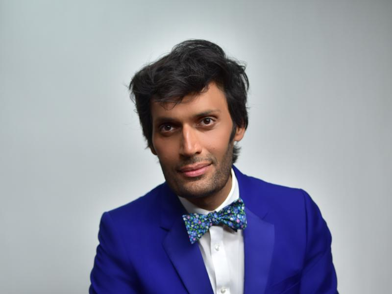 Jeetendr Sehdev seated posing for a photoshoot