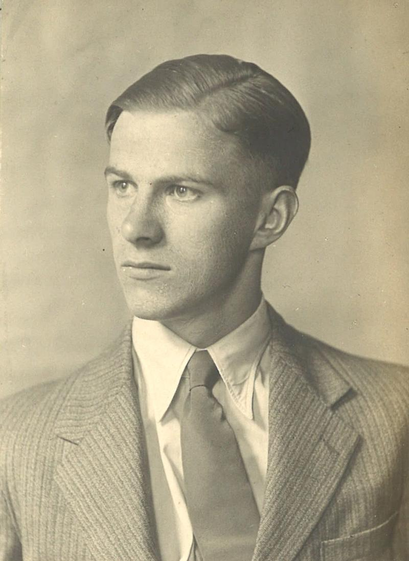 A picture of Bill Frankland, aged 18