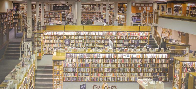The interior of Blackwells book shop