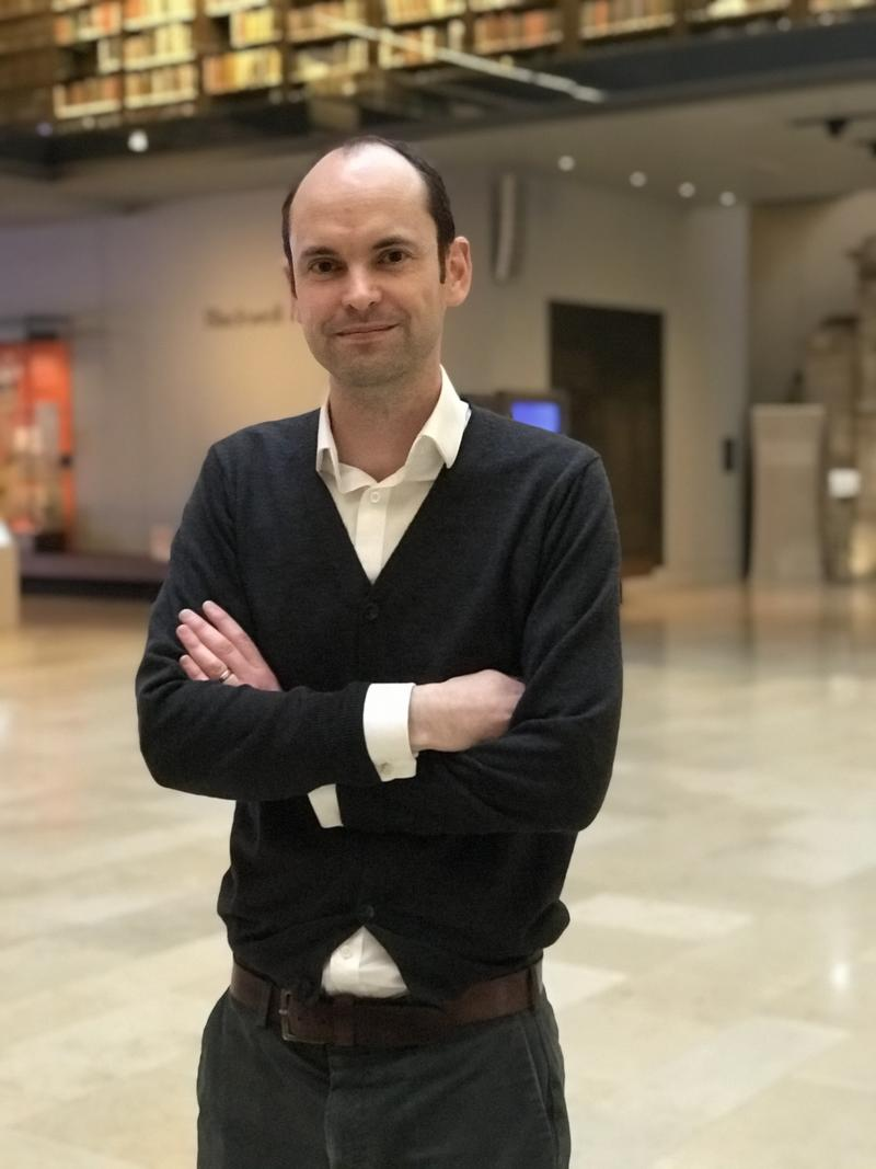 Dr Toby Ord in the Weston Library, Oxford