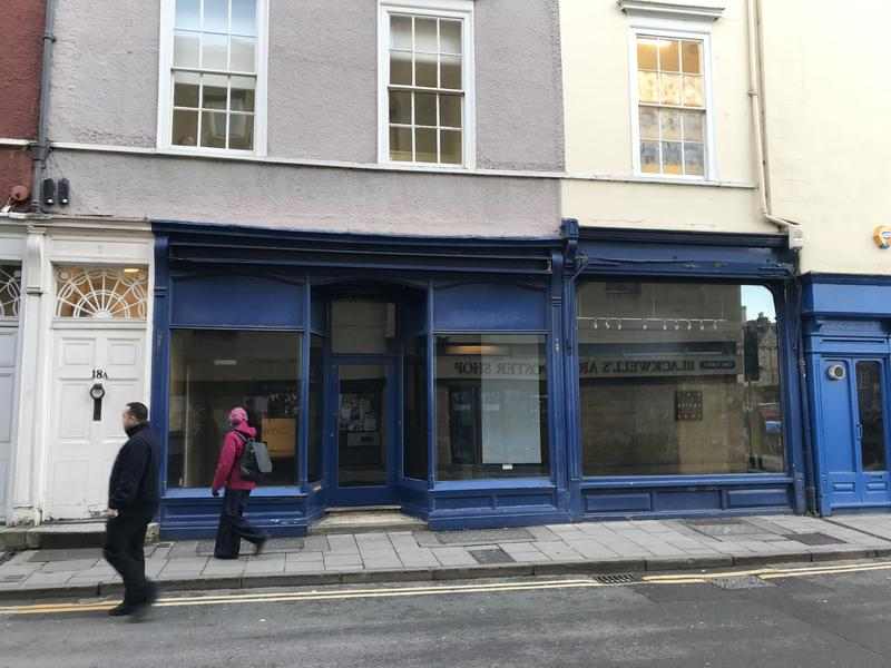 The exterior of an empty shop, the former site of Elmer Cotton Sports