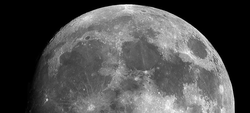 The top half a full moon