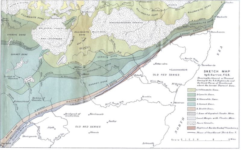 A relief map showing the Highland Boundary Fault