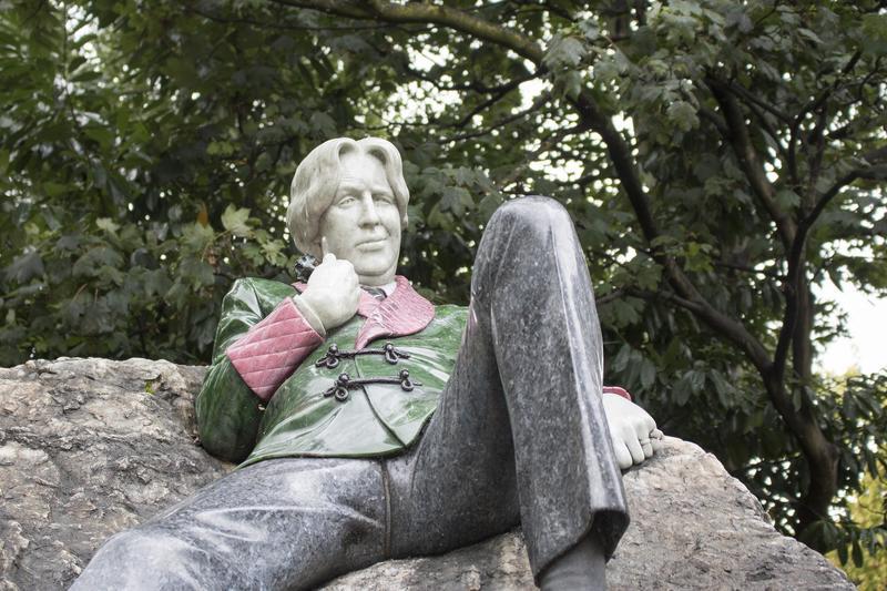 The Oscar Wilde Memorial Sculpture in Dublin