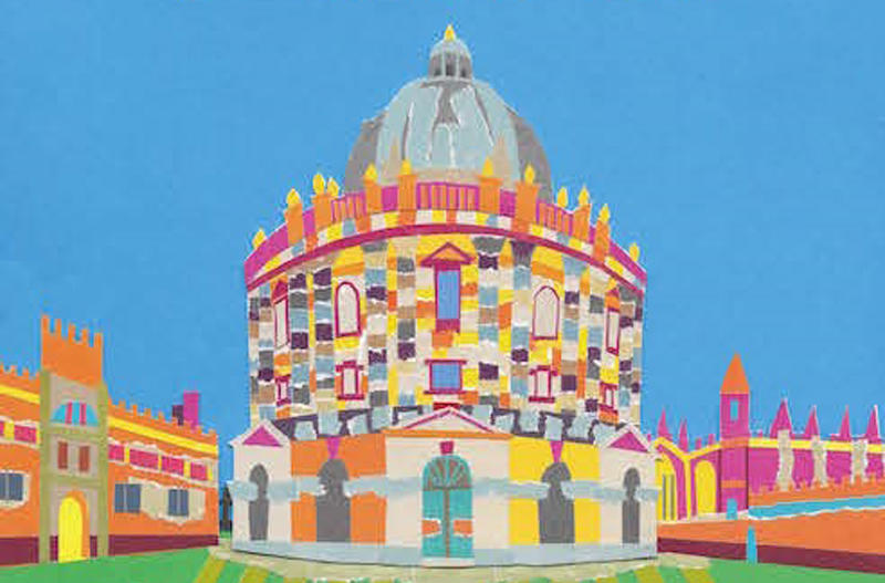 Part of the cover of 'The Oxford Art Book', showing part of the Radcliffe Camera, by the editor, Emma Bennett