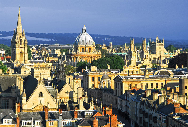 The Oxford skyline, with the Radcliffe Camera prominent - Oxford University images