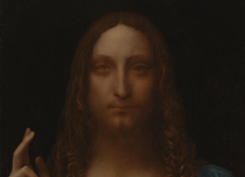 The top part of Leonardo da Vinci's Salvator Mundi