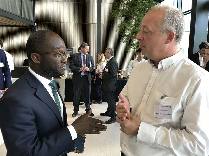 Sam Gyimah talking with Dave Norwood