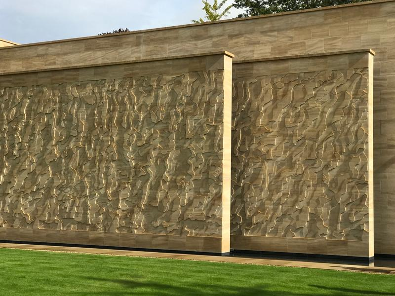 Stone Drawing (2014-19) by Susanna Heron - an outdoor engraved wall