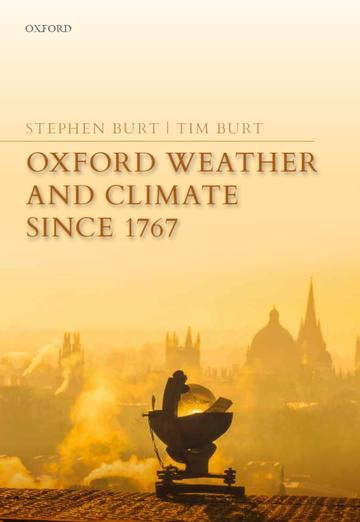 The cover of the book 'Oxford climate and weather since 1767'
