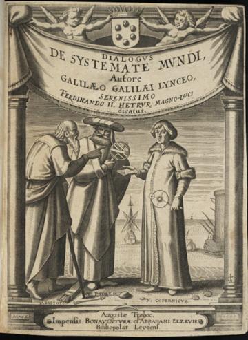 Frontispiece, Galileo's Dialogue