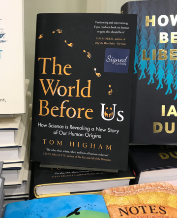 'The World Before Us' by Professor Tom Higham book cover
