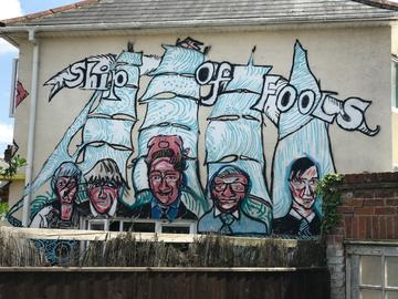 Ship of Fools house mural by Alex Singleton